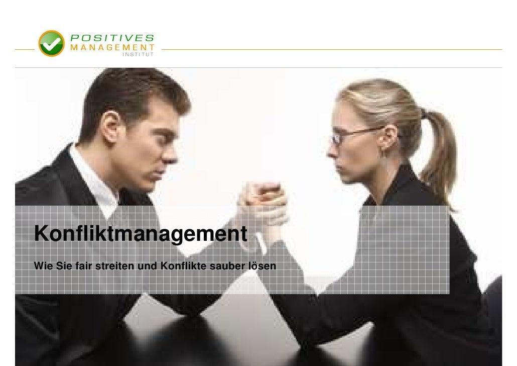 Konfliktmanagement Wie Sie fair streiten und Konflikte sauber lösen