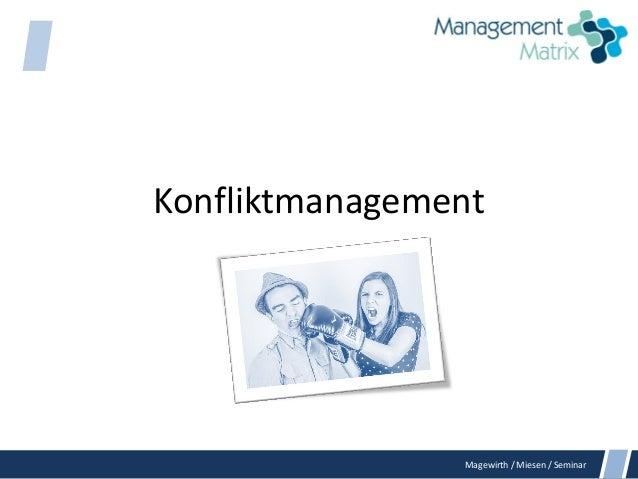 Magewirth / Miesen / Seminar Konfliktmanagement