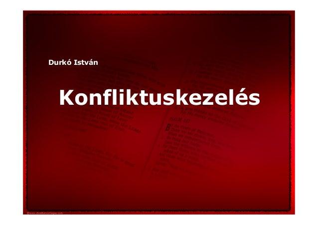 Durkó István Konfliktuskezelés