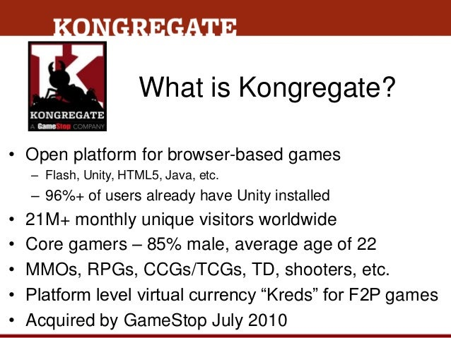 Kongregate - Maximizing Player Retention and Monetization in Free-to-Play Games: Data, Best Practices and Case Studies (Game Connection Europe 2013) Slide 2