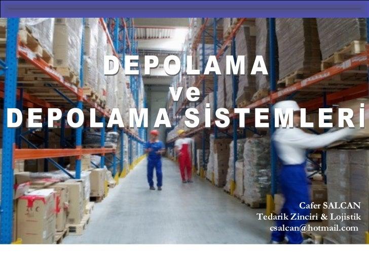 Cafer SALCANTedarik Zinciri & Lojistik  csalcan@hotmail.com                             1