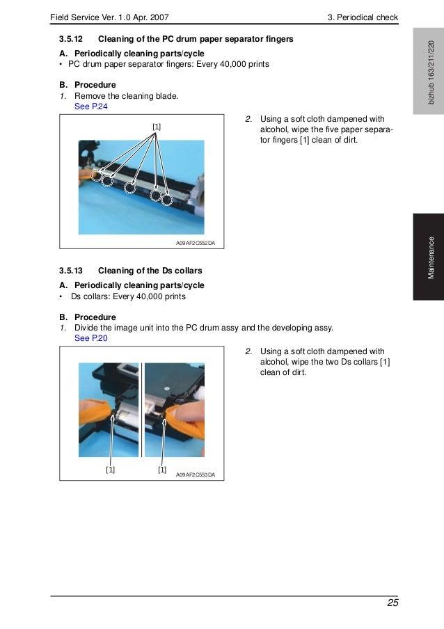 konica minolta biz hub 163 211 220 field service manual rh slideshare net Konica Minolta Bizhub C308 Konica Minolta Bizhub C353