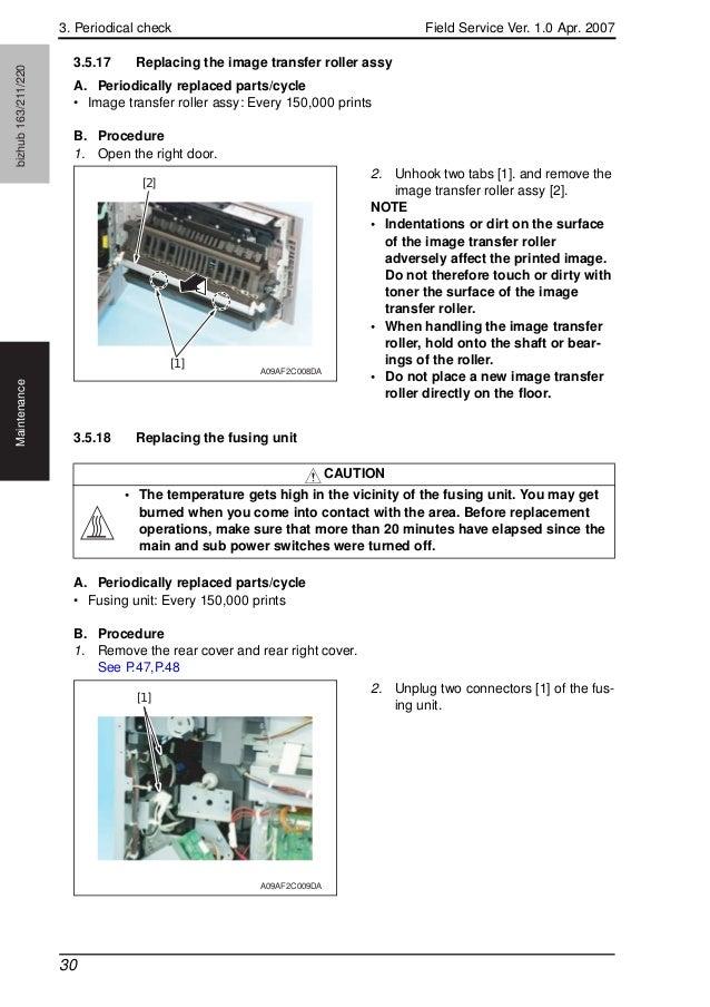 konica minolta biz hub 163 211 220 field service manual rh slideshare net minolta bizhub 163 parts manual Bizhub C450
