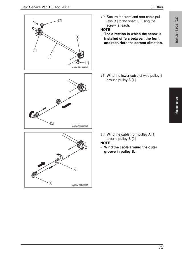 Konica minolta biz hub 163, 211, 220 field service manual