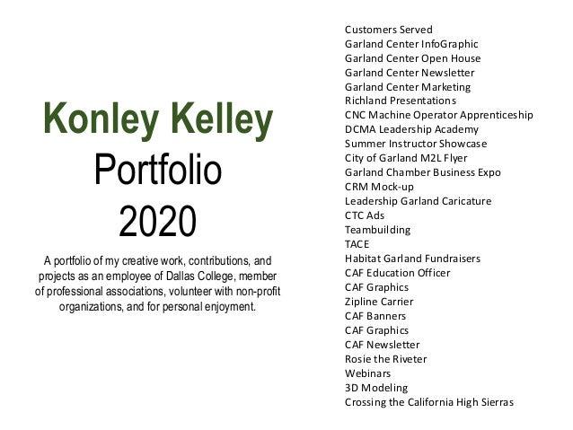 Konley Kelley Portfolio 2020 Customers Served Garland Center InfoGraphic Garland Center Open House Garland Center Newslett...