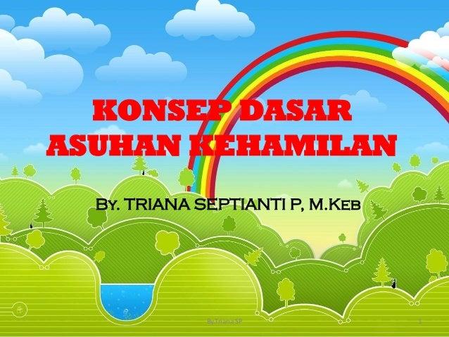 KONSEP DASAR ASUHAN KEHAMILAN By. TRIANA SEPTIANTI P, M.Keb 1By.Triana SP