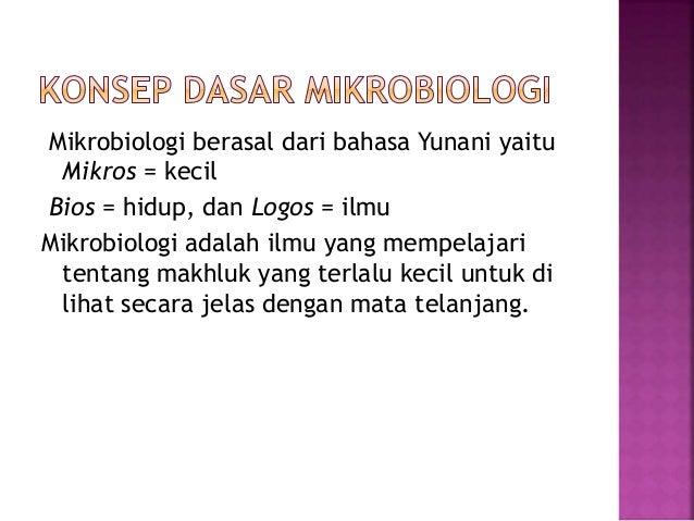 Konsep dasar mikrobiologi Slide 2