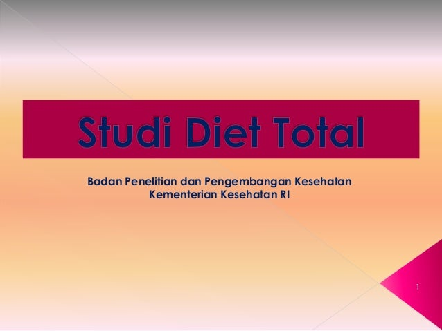 TOTAL DIET STUDY (TDS) A PROGRESS REPORT