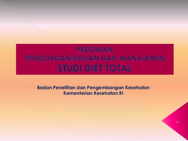 """Buku Studi Diet Total """"Survei Konsumsi Makanan Individu"""""""