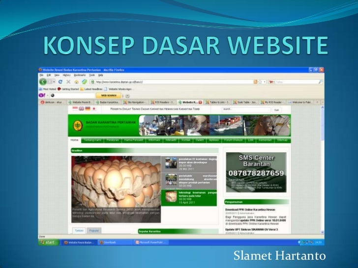 KONSEP DASAR WEBSITE<br />SlametHartanto<br />
