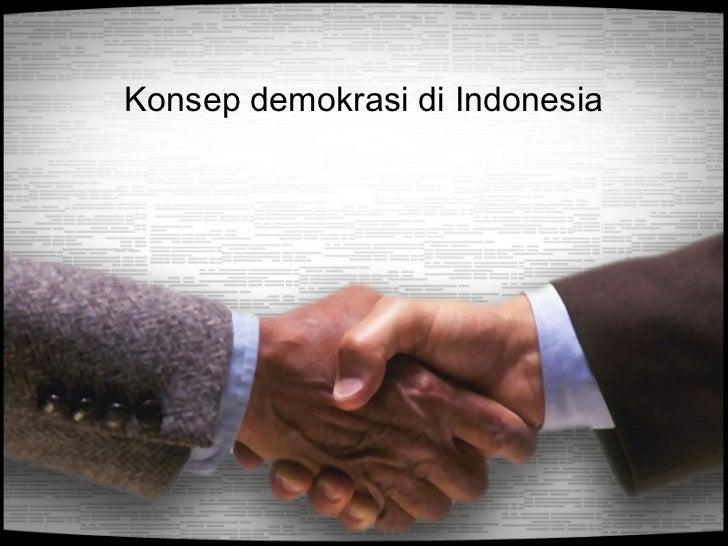 Konsep demokrasi di Indonesia