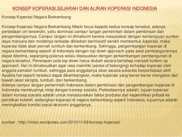 KONSEP KOPERASI,SEJARAH DAN ALIRAN KOPERASI INDONESIAKonsep Koperasi Negara BerkembangKonsep Koperasi Negara Berkembang Me...