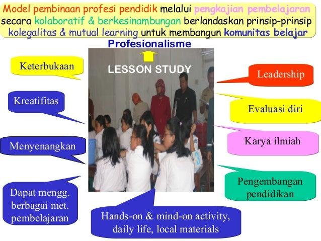 Model pembinaan profesi pendidik melalui pengkajian pembelajaran secara kolaboratif & berkesinambungan berlandaskan prinsi...