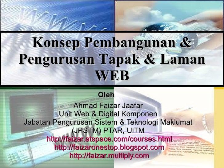 Konsep pembangunan tapak web & laman web