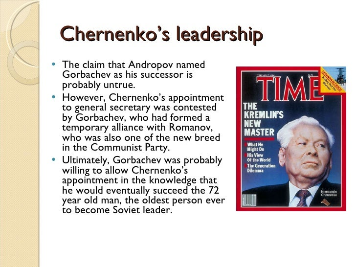 Image result for konstantin chernenko becomes soviet leader