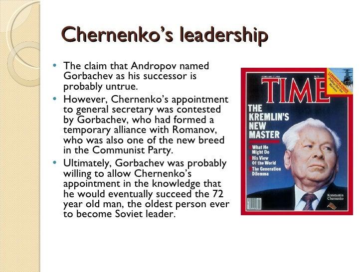 Image result for konstantin chernenko becomes soviet leader