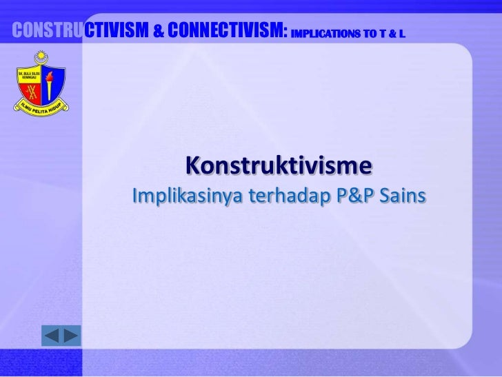 CONSTRUCTIVISM &INTRUCTION COMPUTER-BASED CONNECTIVISM: IMPLICATIONS TO T & L                           Konstruktivisme   ...