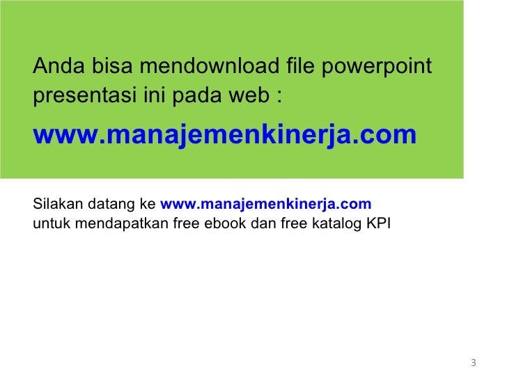 Pelatihan KPI - Training Penyusunan KPI Slide 3