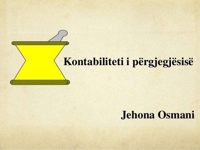 Kontabiliteti i përgjegjësisë Jehona Osmani