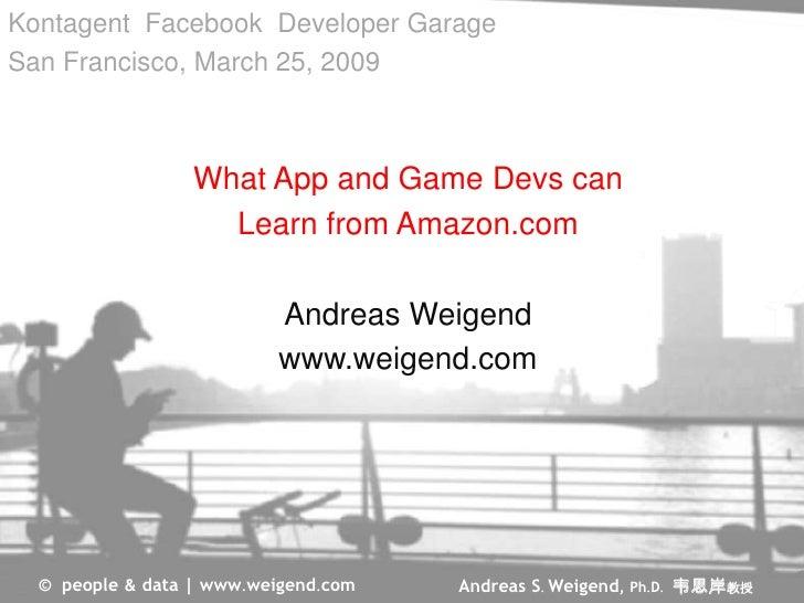 Kontagent Facebook Developer Garage San Francisco, March 25, 2009                      What App and Game Devs can         ...