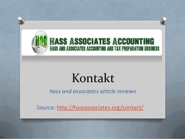 Kontakt    hass and associates article reviewsSource: http://hassassociates.org/contact/