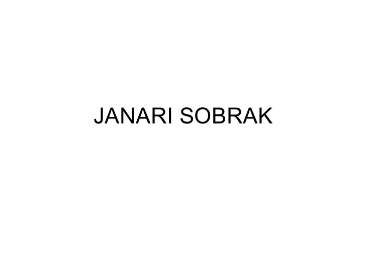JANARI SOBRAK