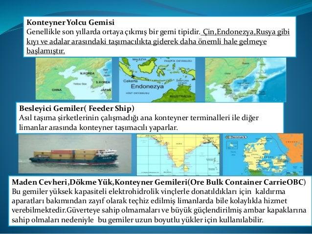 Açık Dökme Yük Konteyner Gemileri(Open bulk Container Carriers) Yükleme ve boşaltma işlemlerinin tekerlekli yükleyiciler v...