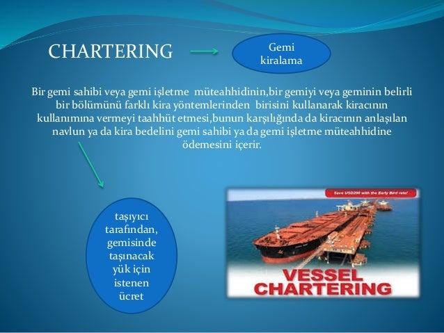 Çıplak Kiralama Gemi maliki periyodik kira ücreti karşılığında ve belirli bir süre için gemisinin zilyetliğini kiracıya de...