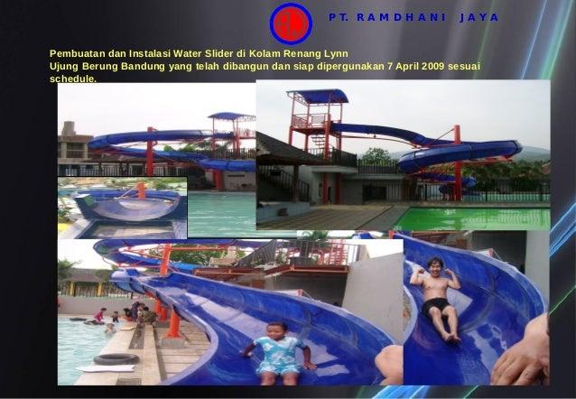 Pembuatan dan Instalasi Water Slider di Kolam Renang Lynn Ujung Berung Bandung yang telah dibangun dan siap dipergunakan 7...