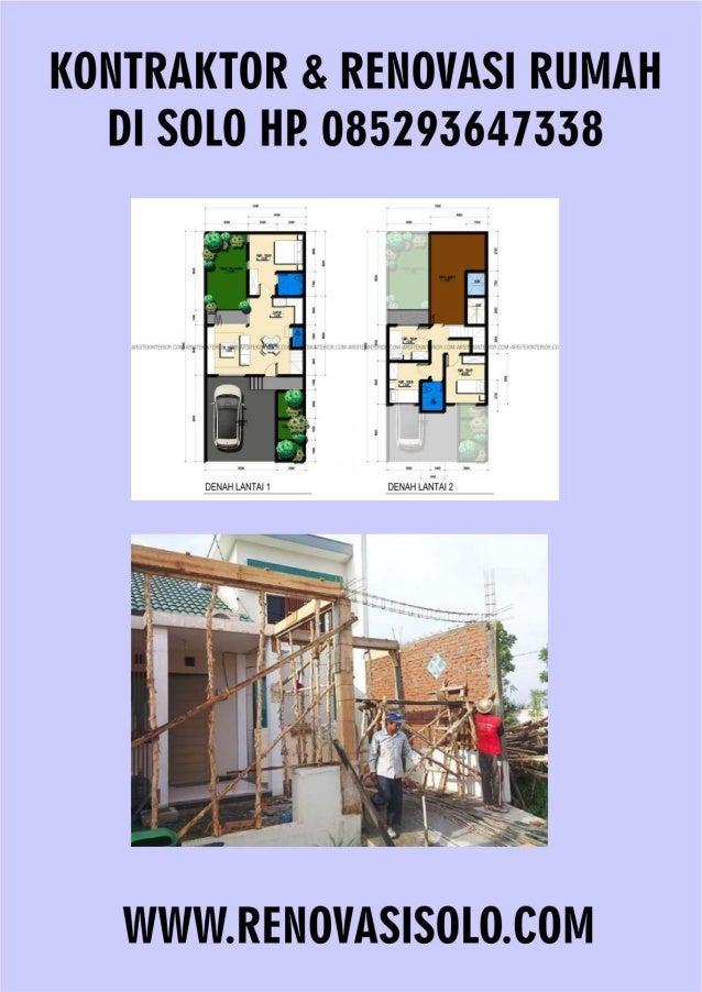 Kontraktor Dan renovasi rumah di solo hp 085293647338