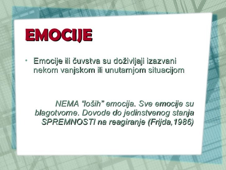 Kontrola emocija Slide 2