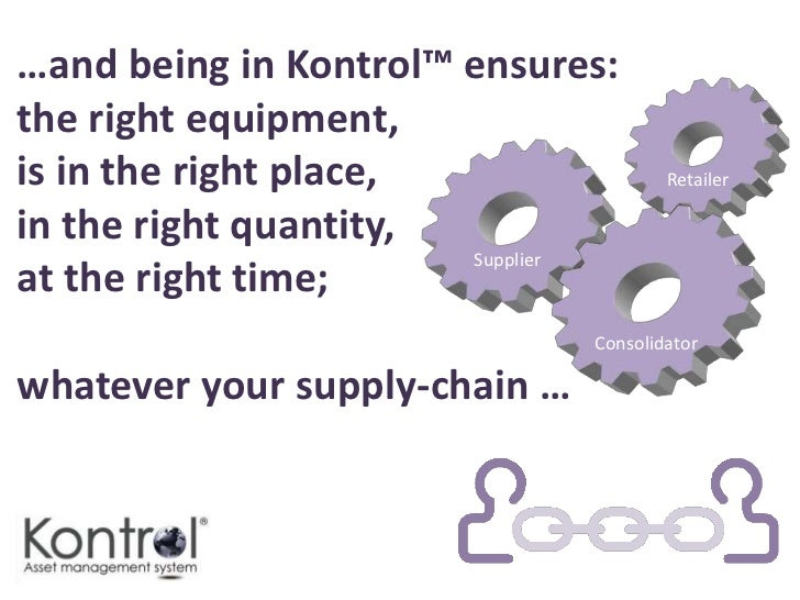 Kontrol™ -Handles unlimited equipment types and locationsOffers manual or auto-replenishment of equipmentProcesses char...