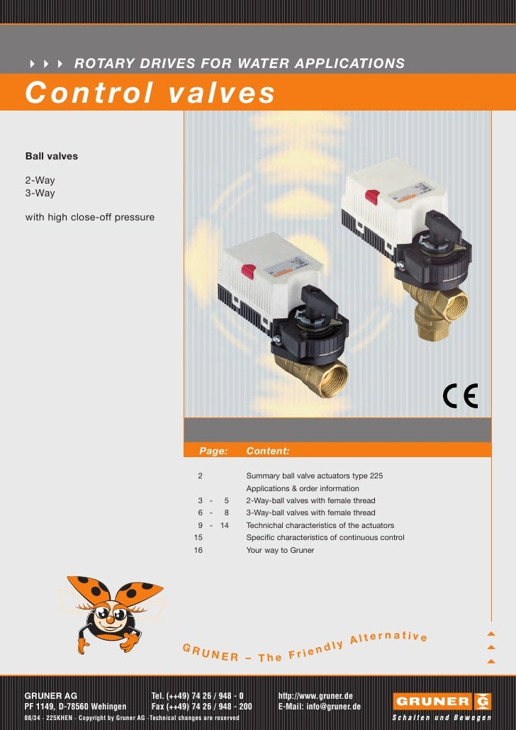 ROTARY DRIVES FOR WATER APPLICATIONSC o n t ro l v a l v e sBall valves2-Way3-Waywith high close-off pressure             ...