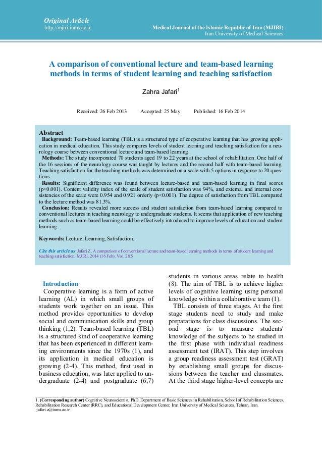 Original Article http://mjiri.iums.ac.ir Medical Journal of the Islamic Republic of Iran (MJIRI) Iran University of Medica...