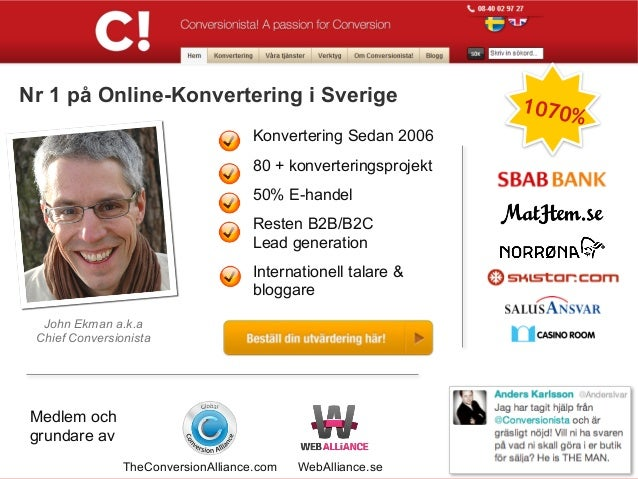 .Nr 1 på Online-Konvertering i Sverige                            1070%                                     Konvertering S...