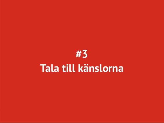 #3Tala till känslorna    Twitter: @conversionista            Page