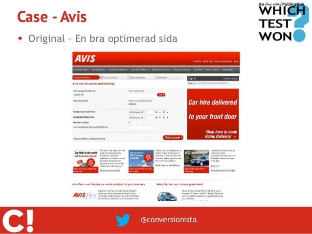 Case - Avis Original – En bra optimerad sida                          @conversionista