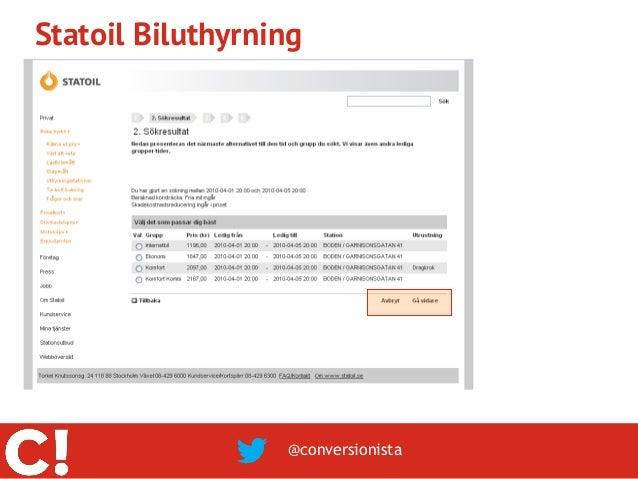 Statoil Biluthyrning                  @conversionista
