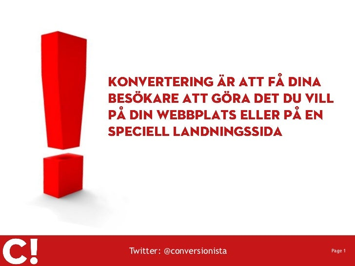 Twitter: @conversionista   Page 1