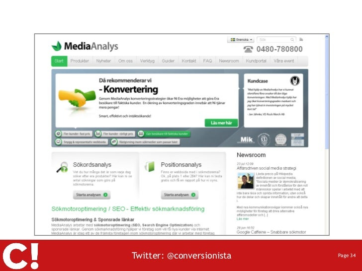 Twitter: @conversionista   Page 34