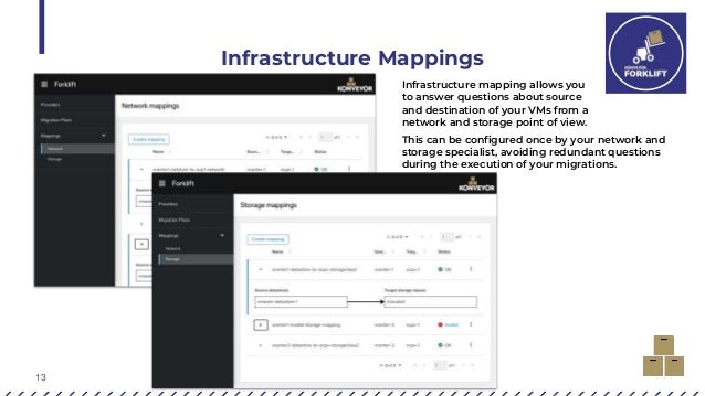 13 Infrastructure Mappings Infrastructure mapping allows you to answer questions about source and destination of your VMs ...