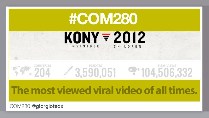 #COM280The most viewed viral video of all times.COM280 @giorgiotedx