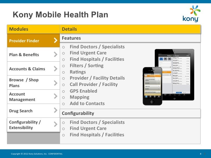 kony mobility for health plans