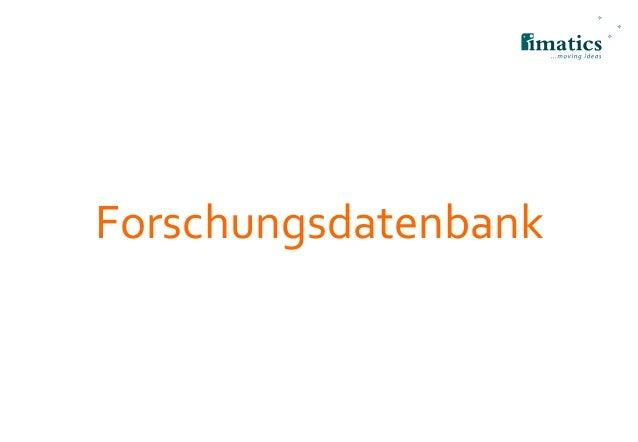 Forschungsdatenbank
