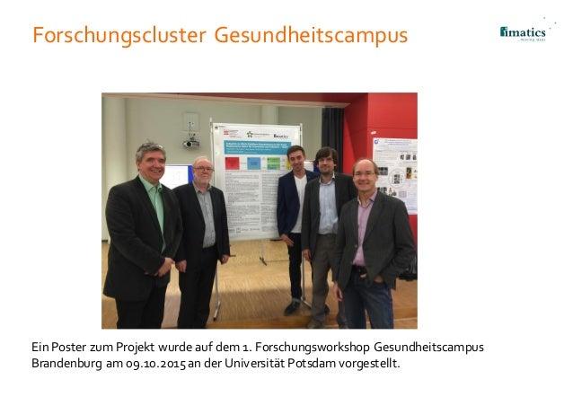 Forschungscluster Gesundheitscampus Ein Poster zum Projekt wurde auf dem 1. Forschungsworkshop Gesundheitscampus Brandenbu...