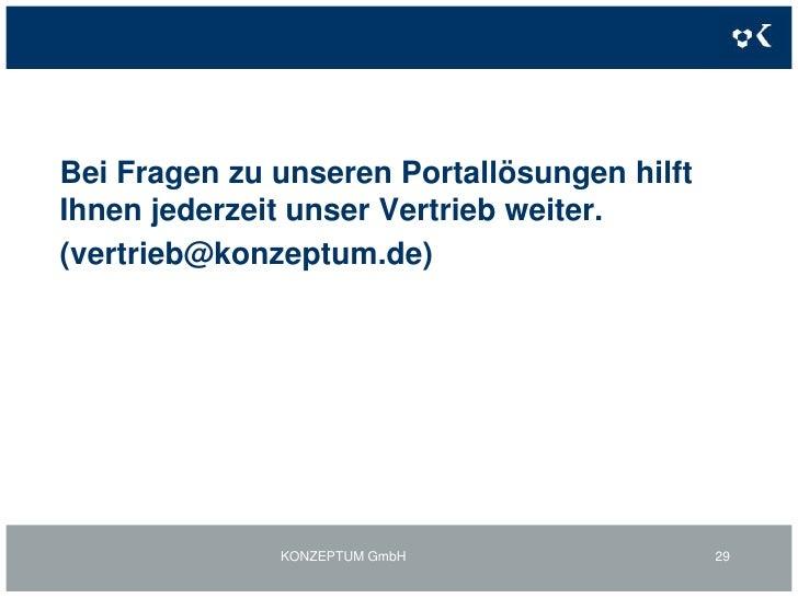 3. Individuelle Portallösung auf bestehender DatenstrukturWebstatistikprofil- Beispiel<br />KONZEPTUM GmbH<br />26<br />