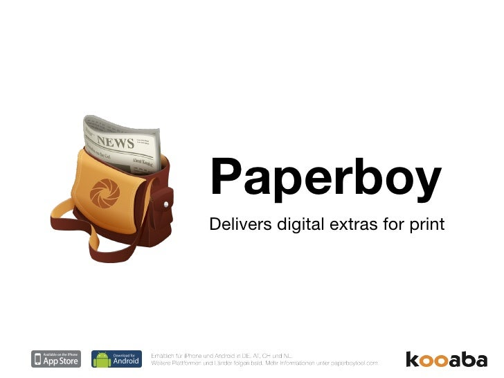 Paperboy Delivers digital extras for print