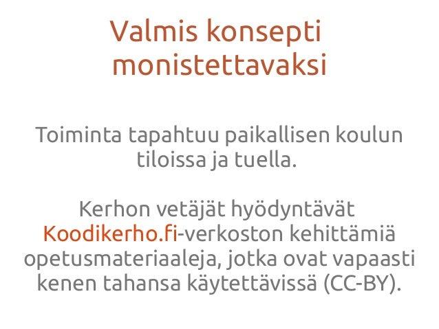 Koodikerhot SuomessaKoodikerhot Suomessa