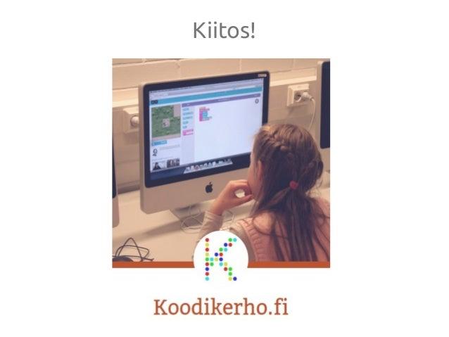 Koodikerho opettaa lapsille ohjelmointia (Virtuaaliopetuksen päivät 2015)