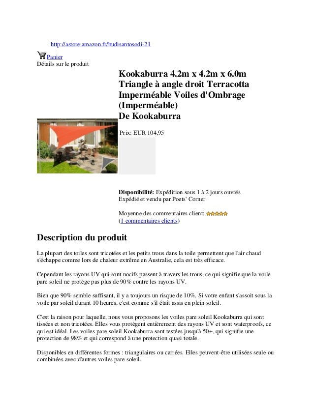 http://astore.amazon.fr/budisantosodi-21PanierDétails sur le produitKookaburra 4.2m x 4.2m x 6.0mTriangle à angle droit Te...